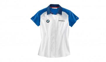 BMW Kurzarmbluse Logo, Damen, weiß