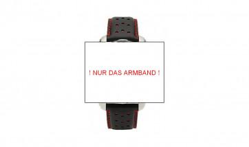 BMW M Carbon Chrono Armband schwarz/rot