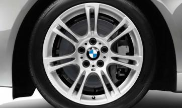BMW Alufelge M Doppelspeiche 350 silber 8J x 18 ET 30 Vorderachse / Hinterachse 5er F10 F11 6er F06 F12 F13