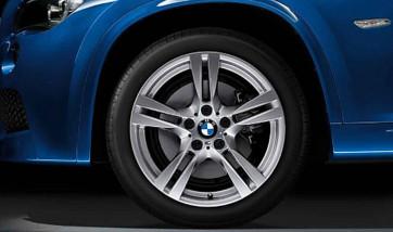 BMW Alufelge M Doppelspeiche 355 silber 8J x 18 ET 30 Vorderachse X1 E84