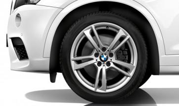 BMW Alufelge M Doppelspeiche 369 silber 8,5J x 19 ET 38 Vorderachse / Hinterachse X3 F25 X4 F26