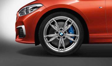 BMW Kompletträder M Doppelspeiche 436 ferricgrey 18 Zoll 1er F20 F21 2er F22 F23 RDCi (Mischbereifung)