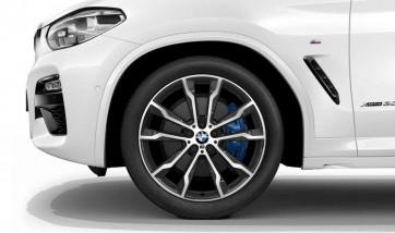 BMW Alufelge M Doppelspeiche 699 bicolor (orbitgrey / glanzgedreht) 9,5J x 20 ET 43 Hinterachse X3 G01 X4 G02