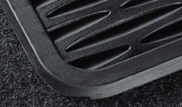BMW Satz Gummimatten hinten schwarz, passend für 3er E46