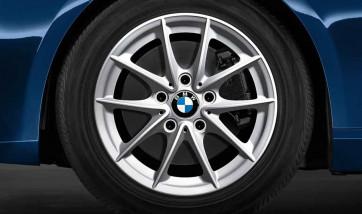BMW Alufelge V-Speiche 360 silber 7J x 16 ET 31 Vorderachse / Hinterachse 3er E90 E91 E92 E93
