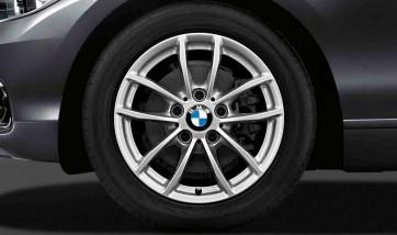 BMW Kompletträder V-Speiche 378 silber 16 Zoll 1er F20 F21 2er F22 F23