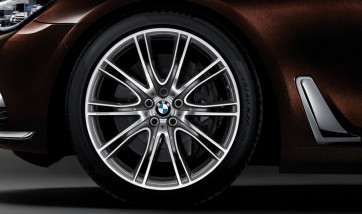 BMW Alufelge V-Speiche 649i bicolor (ferricgrey / glanzgedreht) 10J x 20 ET 41 Hinterachse 6er G32 7er G11 G12