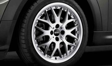 MINI Alufelge Cross Spoke Composite R90 silber 7J x 17 ET 48 Vorderachse / Hinterachse R50 R52 R53 R55 R56 R57 R58 R59