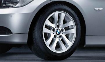 BMW Alufelge Doppelspeiche 156 silber 7J x 16 ET 34 Vorderachse / Hinterachse 3er E90 E91