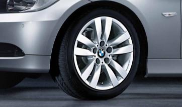 BMW Alufelge Doppelspeiche 161 silber 8,5J x 17 ET 37 Hinterachse 3er E90 E91 E92 E93