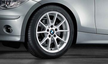BMW Alufelge Doppelspeiche 178 reflexsilber 7J x 17 ET 47 Vorderachse / Hinterachse 1er E81 E82 E87 E88