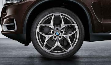 BMW Kompletträder Doppelspeiche 215 ferricgrey 21 Zoll X5 F15 X6 F16 RDCi (Mischbereifung)