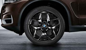 BMW Kompletträder Doppelspeiche 215 jet black uni 21 Zoll X5 F15 X6 F16 RDCi (Mischbereifung)