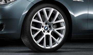 BMW Kompletträder M Doppelspeiche 238 reflexsilber 20 Zoll 5er F07 7er F01 F02 F04 RDC LC (Mischbereifung)