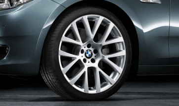 BMW Alufelge Doppelspeiche 238 silber 8,5J x 21 ET 25 Vorderachse 5er F07 7er F01 F02 F04