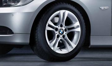 BMW Winterkompletträder Doppelspeiche 268 silber 16 Zoll 3er E90 E91