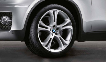 BMW Alufelge Doppelspeiche 275 silber 11,5J x 21 ET 38 Hinterachse X5 E70 X6 E71 E72