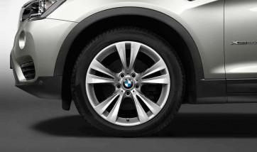 BMW Alufelge Doppelspeiche 309 silber 8,5J x 19 ET 38 Vorderachse / Hinterachse X3 F25 X4 F26