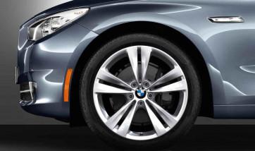 BMW Alufelge Doppelspeiche 316 8,5J x 20 ET 25 Silber Vorderachse BMW 5er F07 7er F01 F02 F04