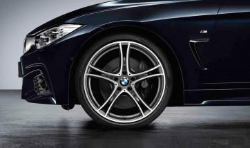 BMW Alufelge Doppelspeiche 361 bicolor (ferricgrey / glanzgedreht) 8J x 20 ET 36 Vorderachse 3er F30 F31 4er F32 F33 F36