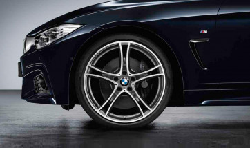 BMW Alufelge Doppelspeiche 361 bicolor (ferricgrey / glanzgedreht) 8,5J x 20 ET 47 Hinterachse 3er F30 F31 4er F32 F33 F36