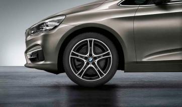 BMW Alufelge Doppelspeiche 361 bicolor (orbitgrey / glanzgedreht) 8J x 18 ET 57 Vorderachse / Hinterachse 1er F40 2er F44 F45 F46