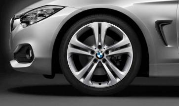 BMW Alufelge Doppelspeiche 401 silber 8J x 19 ET 36 Vorderachse 3er F30 F31 4er F32 F33 F36
