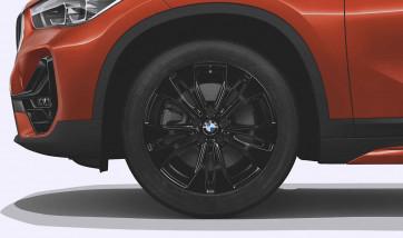 BMW Alufelge Doppelspeiche 578 schwarz 7,5J x 18 ET 51 Vorderachse / Hinterachse X1 F48 X2 F39