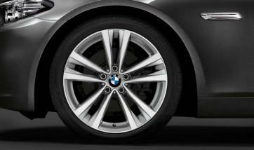 BMW Alufelge Doppelspeiche 610 bicolor (silber / glanzgedreht) 9J x 19 ET 44 Hinterachse BMW 5er F10 F11