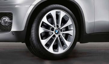 BMW Winterkompletträder Doppelspeiche 98 silber 17 Zoll 1er E87 3er E46