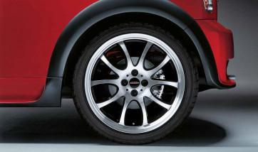 MINI Alufelge JCW Double Spoke R105 bicolor (schwarz / glanzgedreht) 7J x 18 ET 52 Vorderachse / Hinterachse R50 R52 R53 R55 R56 R57 R58 R59