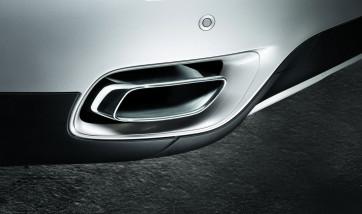 BMW Endrohrblende Chrom X6 E71 30dx/35dx M57 und 35ix N54 6-Zylinder in 8-Zylinder Optik*
