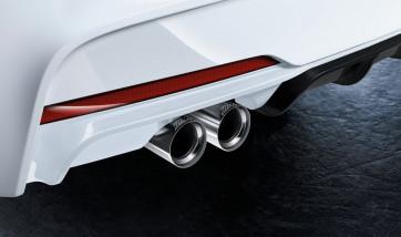 BMW M Performance Endrohrblende chrom für M Performance Abgasanlage Active Sound 2er F22 F23 3er F30 F31 4er F32 F33 F36