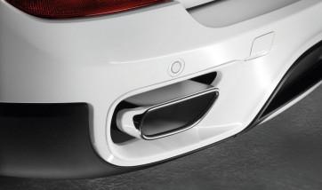 BMW Endrohrblenden chrom X5 E70 LCI 35iX 8-Zylinder Optik