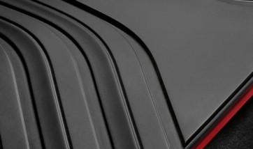 BMW Satz Gummimatten SPORT hinten schwarz/rot 3er F30 F31 M3 F80 4er F36