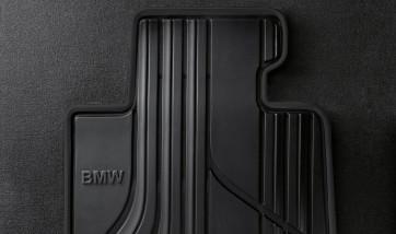 BMW Satz Gummimatten BASIC vorne anthrazit, passend für 1er F20 F21 2er F22 F23