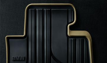 BMW Satz Gummimatten MODERN vorne Schwarz/Beige 3er F30 F31 F34 M3 F80 ohne xDrive