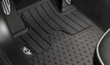 MINI Satz Gummimatten vorne schwarz mit MINI Logo R60 R61