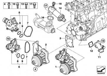 Austausch Kühlmittelpumpe mechanisch  3er 5er 7er X5  (11517786192)
