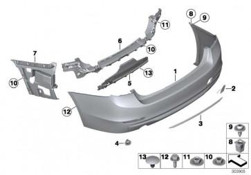 Verkleidung Stossfänger lackiert hinten CODE - UNI/MET. 3er  (51122239981)