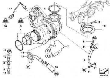 Austausch Turbolader  3er 5er 7er X5 X6  (11657799759)