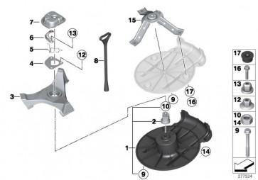 Deckel für Ersatzrad  MINI  (51716800127)