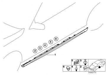 M Schwellerleiste lackiert rechts CODE - UNI/MET. 3er  (51710026630)