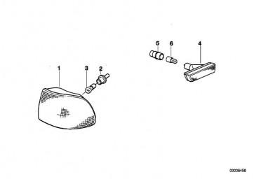Lampenfassung für Glühlampe Gelb  5er 7er  (63128375303)