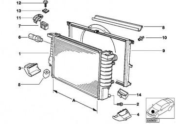 Wasserkühler A=650MM/X=42MM  5er 7er  (17111702969)