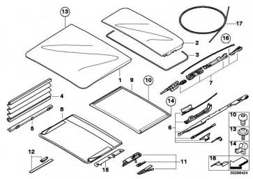 Mechanik Glasdeckel hinten  X5  (54137240682)