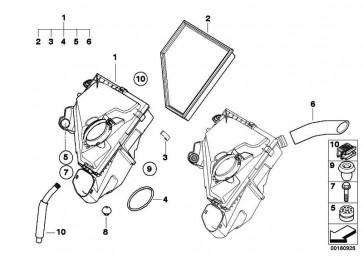 Ansauggeräuschdämpfer  1er 3er X1  (13718512600)