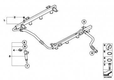 Einspritzventil  5er 6er 7er X5  (13647525721)