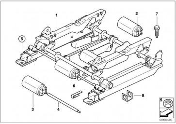 Stellmotor Sitzlängsverstellung  Z3  (67318398810)
