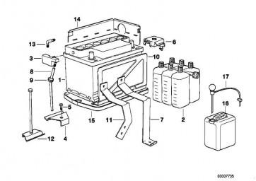 Original BMW Batterie gefüllt 75AH            3er 5er  (61212158123)